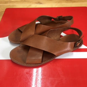Madewell Boardwalk Crossover Brown Leather